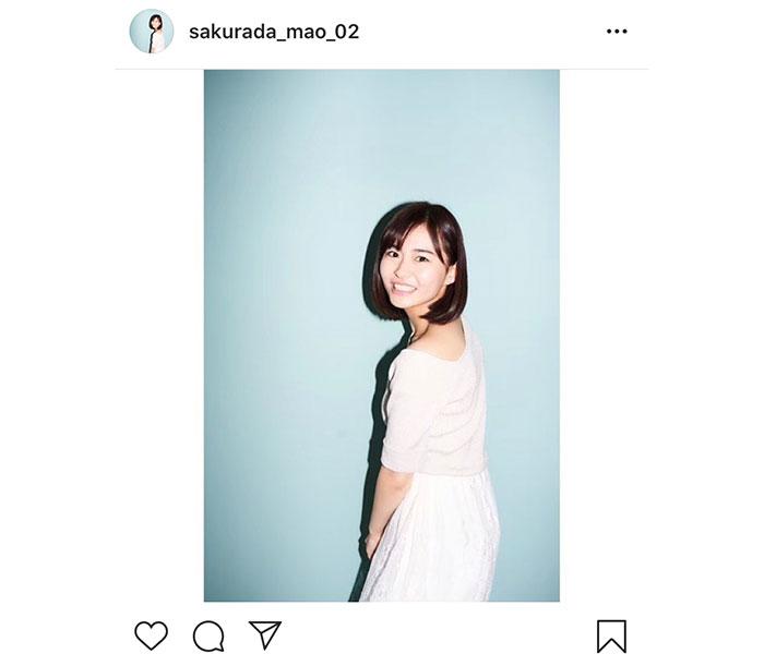 桜田茉央「初心を忘れず」。芸能界入りを決意した宣材写真を公開