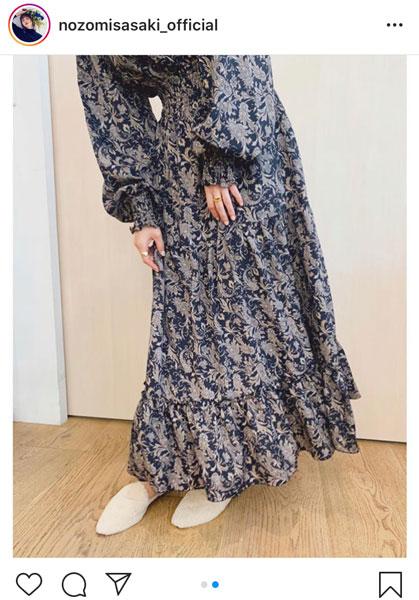 佐々木希、秋らしいロングワンピース着た横顔ショット披露「素敵なデザイン」「お洒落でめちゃめちゃ素敵」と反響
