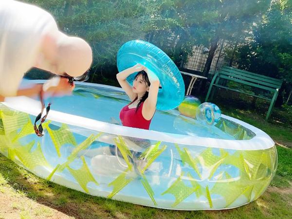 HKT48 田中美久の夏はまだ終わらない!プールグラビアで魅せる大人ショット!!