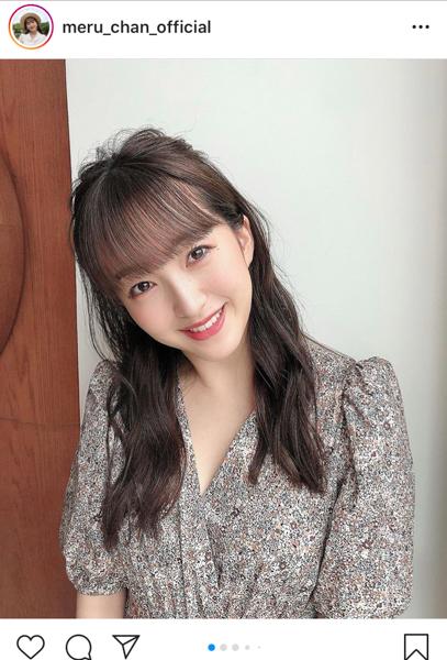 HKT48 田島芽瑠、秋コーデの花柄ファッションを紹介!「涼しげなワンピース」「大人っぽい」