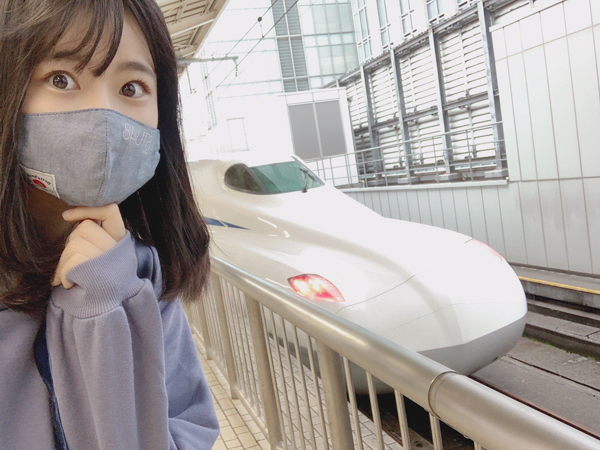 STU48 瀧野由美子、N700Sと念願のご対面!「やっとちゃんと会えた」