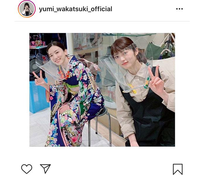 若月佑美、永野芽郁とフェイスガード着用の2ショット公開!<親バカ青春白書>