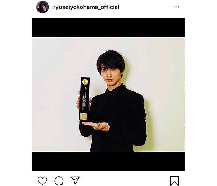 横浜流星、『ソウルドラマアワード』受賞に喜びの声「流星くんの努力の賜物」「素敵な演技で楽しませてくれてありがとう」
