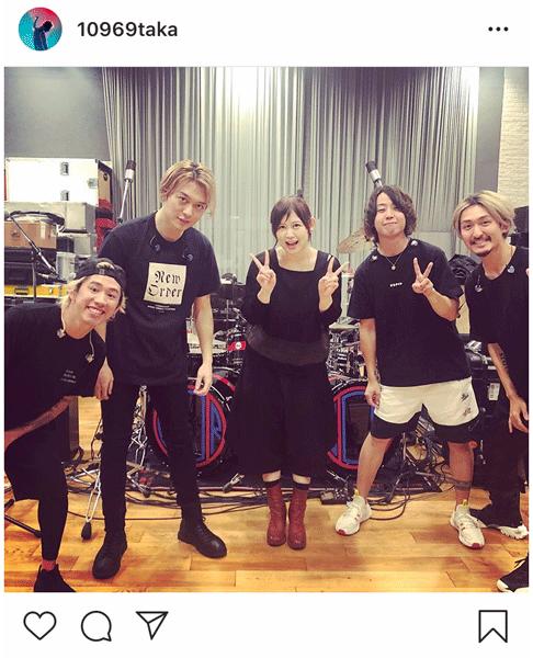 ONE OK ROCKのリハーサルスタジオに絢香が!インスタライブでの約束どおり「本当に来てくれたー」