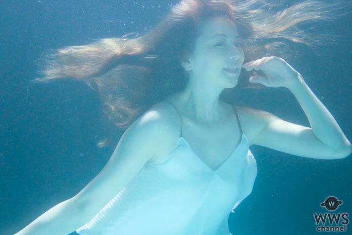 【動画】香里奈が人魚のような美しさで初の水中撮影!『肌ナチュール』公式アンバサダーに就任!