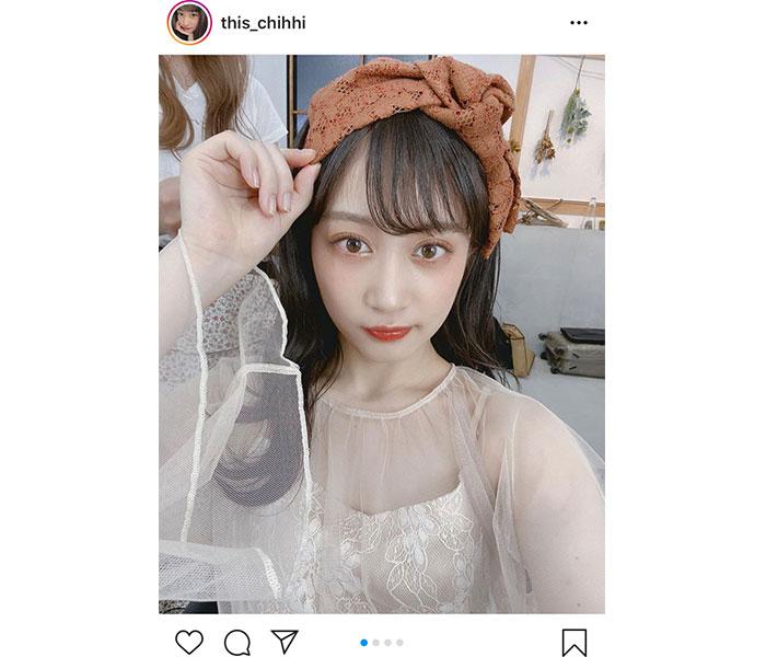 川上千尋、NMB48の10周年記念ブックでこだわり秋メイク披露!