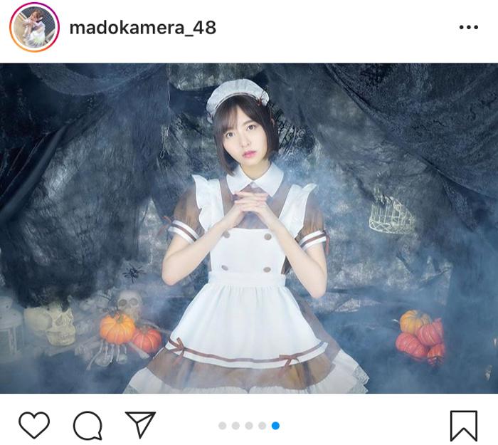 HKT48 森保まどか、ハロウィンにご給仕したくなるメイド衣装を大公開!「似合い過ぎて魂抜けそう」