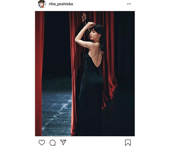 吉岡里帆、まるで絵画のような黒ドレス姿を公開「息するのも忘れるほどの美しさ」