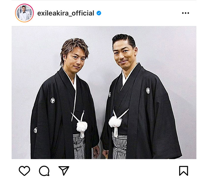EXILE AKIRA、EXILE TAKAHIROと羽織袴のツーショット公開!!