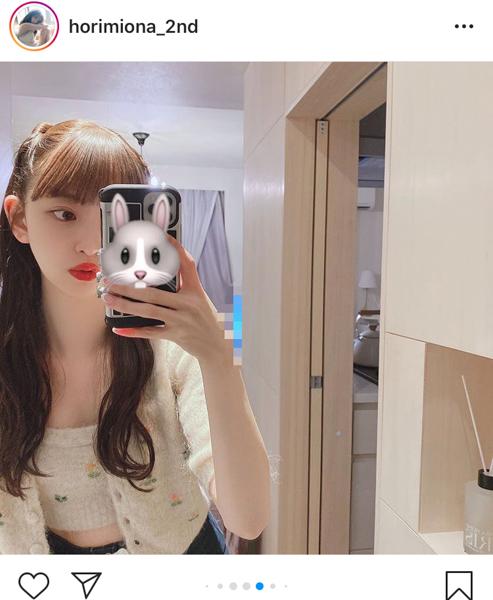 乃木坂46 堀未央奈、お腹チラ見せの私服コーデを紹介