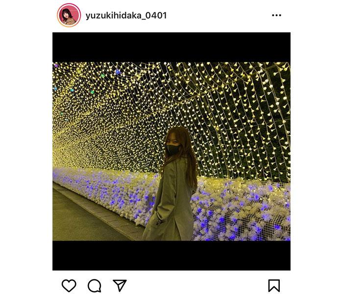 SKE48 日高優月とイルミネーションでデート気分!「なに撮ってるんだよー」
