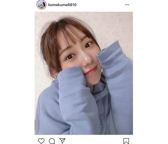 SKE48 熊崎晴香、可愛さが凝縮されたワンシーンに「パーカー女子好き」「照れるやん」と反響!