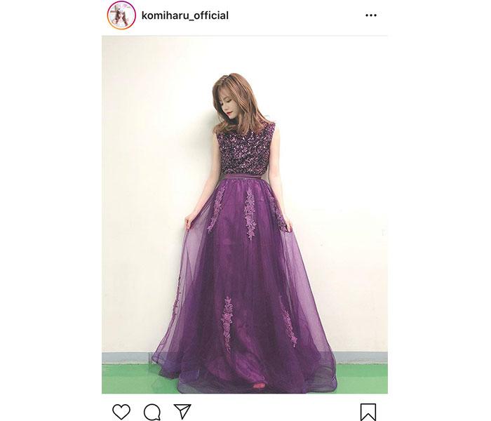 AKB48 込山榛香「似合ってますか?」高貴な紫ドレスで大人の魅力全開!