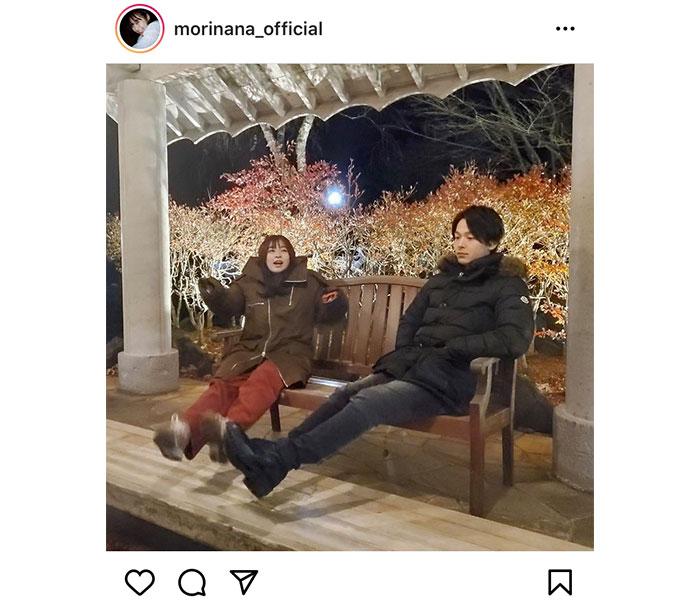 森七菜、中村倫也とベンチでくつろぐ2ショットにファン歓喜!「何この可愛い写真」