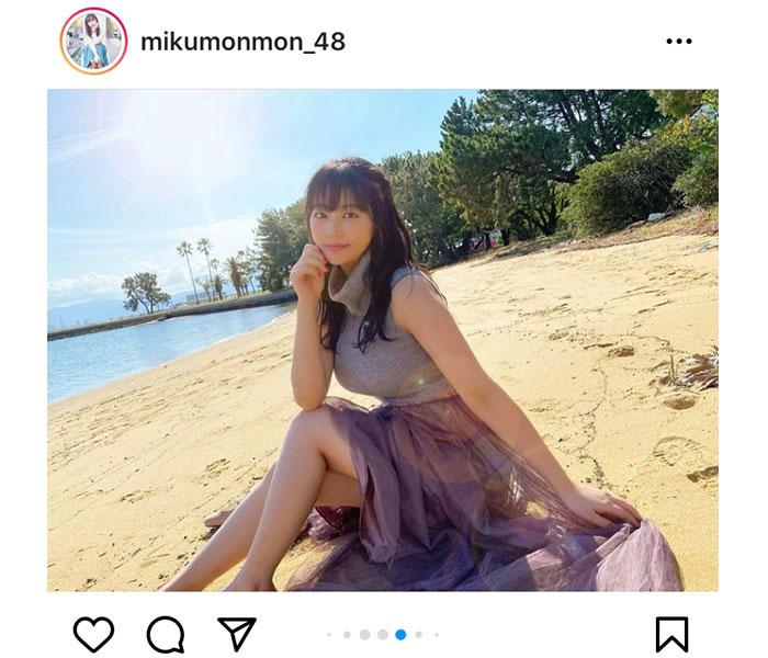 HKT48 田中美久、「どのみくりんが好きですか??」オフショット祭りに絶賛の声!
