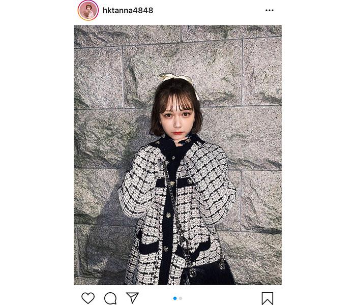 "HKT48 村重杏奈、可愛すぎる""ガーリー""ファッションに視線釘付け!「リボン似合う〜!」「お人形さんみたい!」"