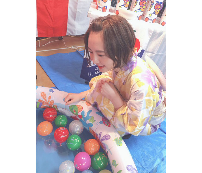 HKT48 森保まどか、デコ出しの浴衣姿で夏思ふ「夏が恋しいなー」