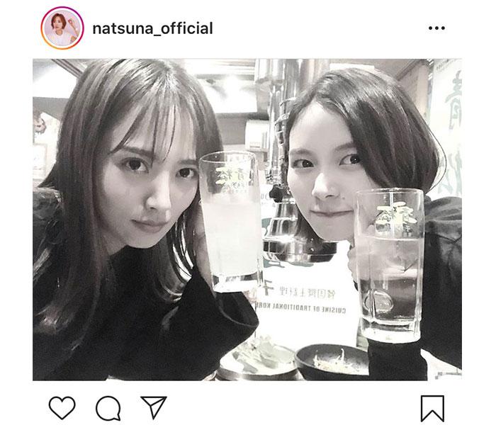【ツインテール姉妹】夏菜、念願の朝日奈央との2人飲み!「想像してた11倍はたのしくて・・・」