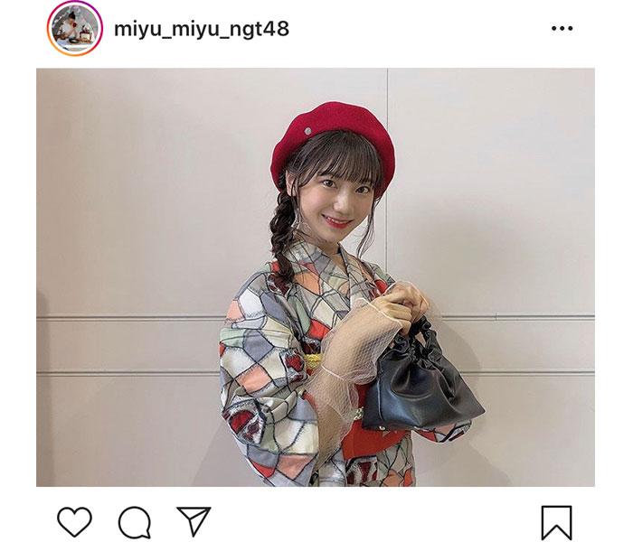 NGT48 藤崎未夢、大正ロマン漂うな生写真オフショット公開!「とっても可愛い衣装でした!」