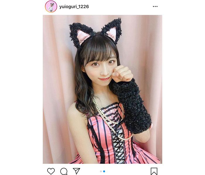 AKB48 小栗有以、猫耳『ヘビロテ』衣装で18歳の生誕祭開催!