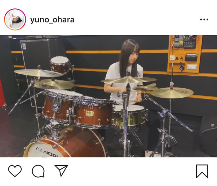 大原優乃、『時をかけるバンド』役作りのドラム練習動画を公開!「めちゃんこカッコいい」と反響も