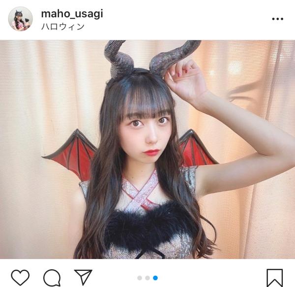 AKB48 大盛真歩、蔵出しのハロウィン写真に「悪魔なのに天使だ」「可愛すぎる」と反響!