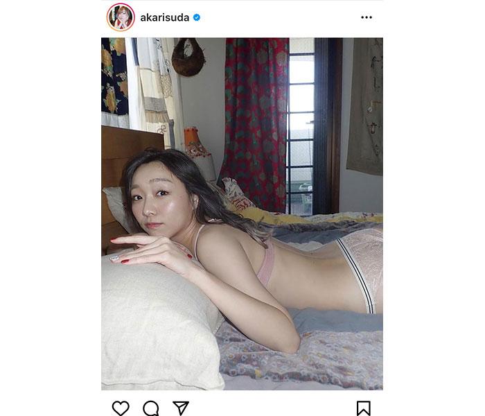 SKE48 須田亜香里、「彼女感出せてる?」添い寝気分のうつ伏せショットにファン歓喜!!