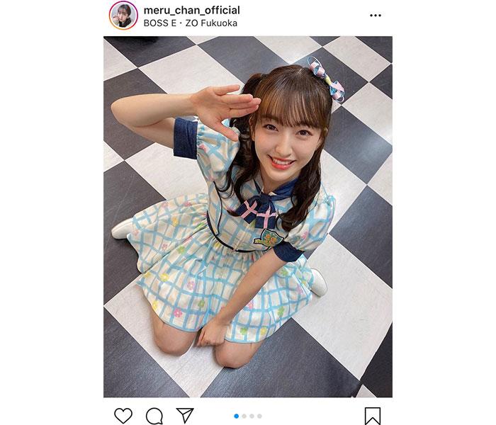 HKT48 田島芽瑠、7年ぶりの『スキ!スキ!スキップ!』選抜衣装にドキドキ!「嬉し恥ずかしでした」