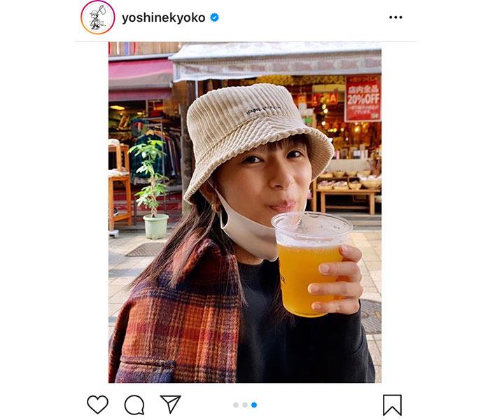 芳根京子、母と出かけた休日ショット!「ビールが美味そう!」