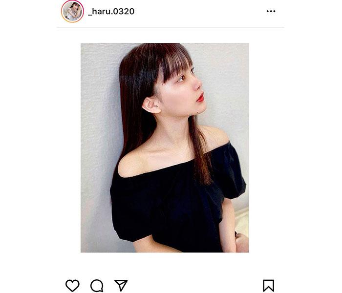 吉澤遥奈、オフショルであらわの鎖骨にドキッ!「デコルテがすごく綺麗」「首筋が素晴らしい」