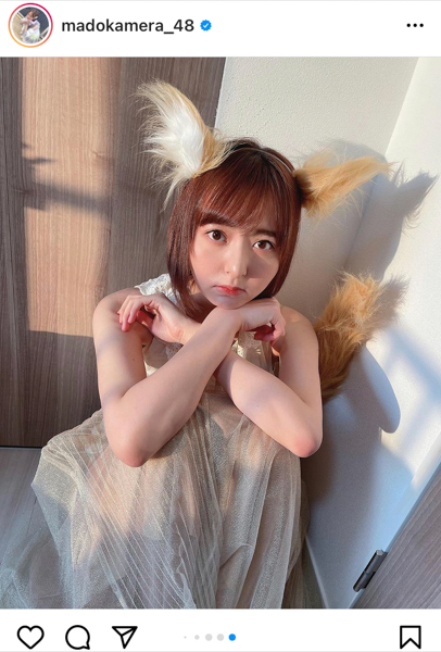 """HKT48 森保まどか、CMで話題の""""どんぎつね""""に!「二代目いける」「いつCM視れますか」"""