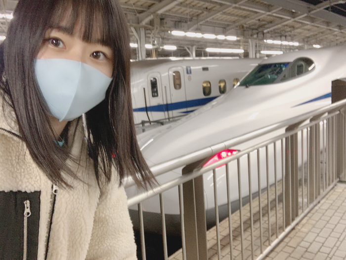 STU48 瀧野由美子、ついにN700Sへの乗車叶う「今年の運全部使い果たしたわ」