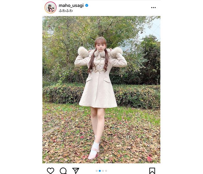 AKB48 大盛真歩、美脚際立つスタイル抜群の冬コーデに大絶賛!「女子力高い」
