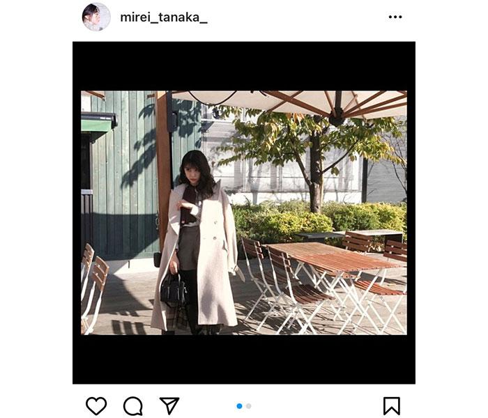 田中美麗、2021年カレンダーのオフショットをインスタグラムで公開中