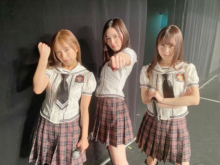 高柳明音、久しぶりのSKE48劇場へ!松井珠理奈&斉藤真木子と『強き者よ』3ショットに歓喜の声!