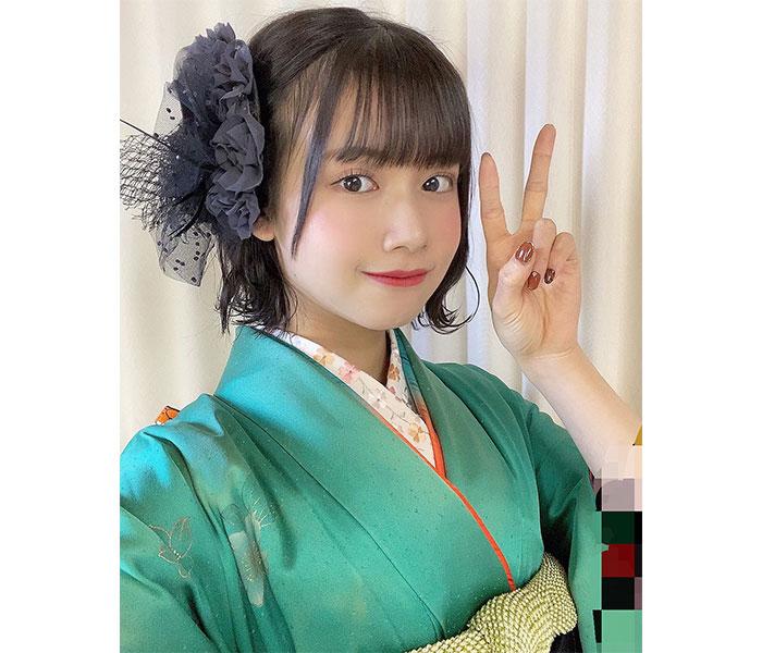 SKE48 田辺美月、緑の振袖姿が好評の前撮り写真を公開!「凄〜く綺麗」「感慨深い」との声も