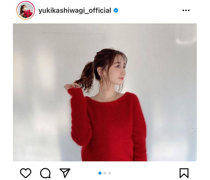 AKB48 柏木由紀、「美人百花」に初登場で赤ニット姿を披露!