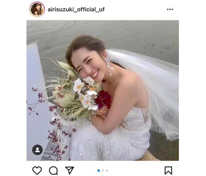 鈴木愛理、純白のウエディングドレス姿に歓喜の声!「嫁にしたい」「結婚してるけど買う」