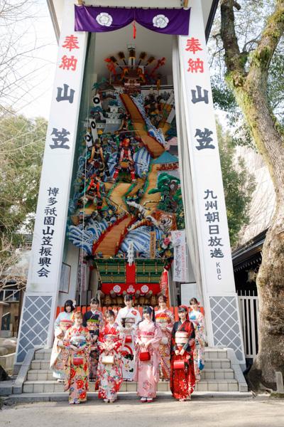 HKT48新成人、地元・櫛田神社にて成人式開催。秋吉優花「今年10周年を迎えるので感謝を伝える1年にしたい」
