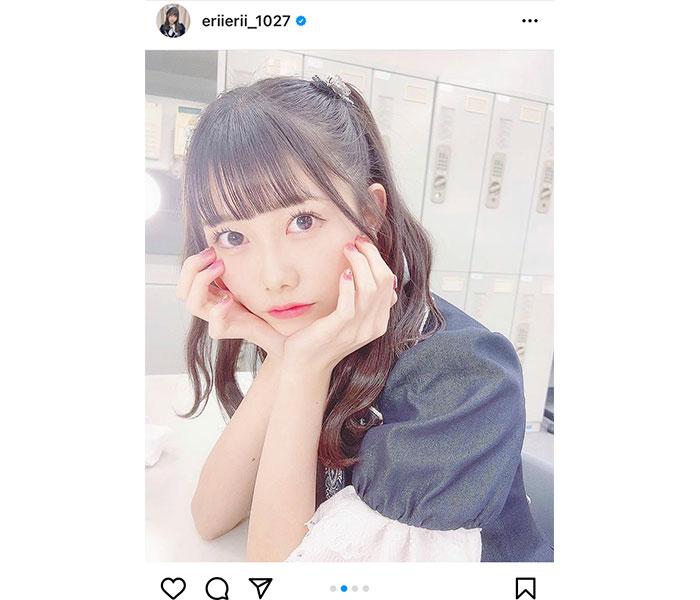 AKB48 千葉恵里、レコ大衣装×ハーフツインショット公開!「新年早々かわいすぎるぞ!」