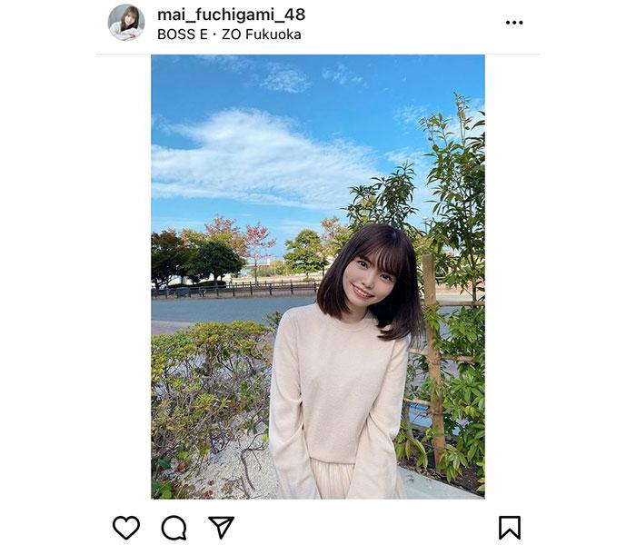 """HKT48 渕上舞、""""仕事始め""""のファンへエール!「良いスタートを切れますように」"""