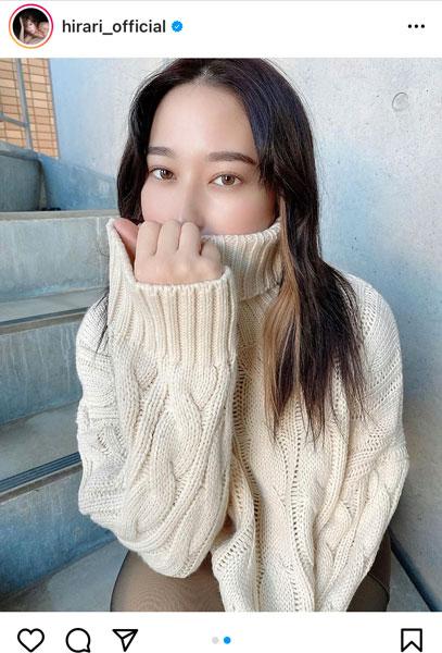 平田梨奈、お気に入りのメイクで魅せる美顔ポートレート
