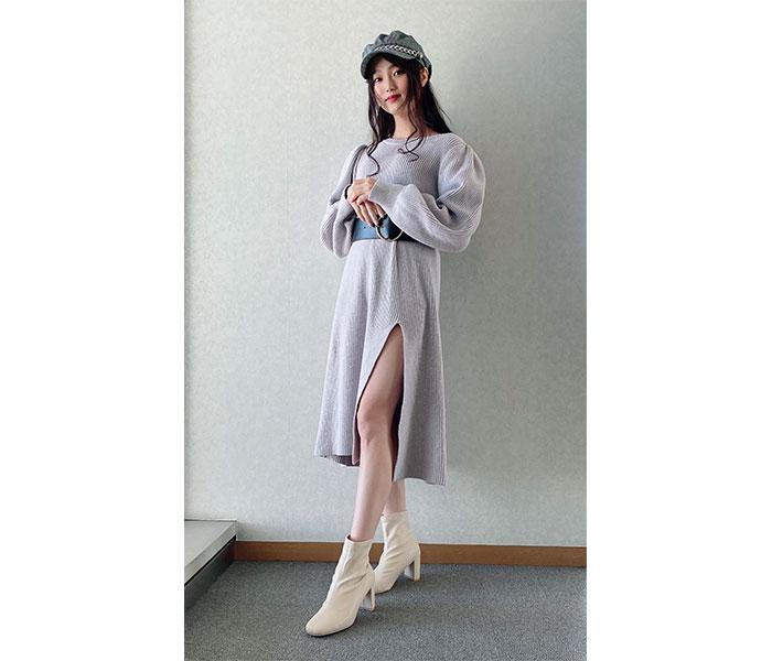 SKE48 石川花音、スリットから美脚のぞかす大人セクシーコーデ!