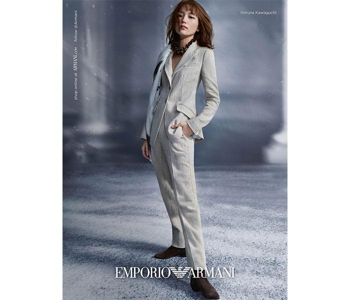 川口春奈、エレガントで大人な表情をみせる「エンポリオ アルマーニ」広告が公開