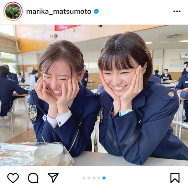 松本まりか、「教場II」撮影合間のオフショットに反響!