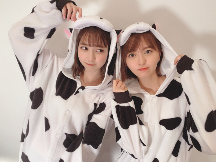 "HKT48 森保まどか&松岡菜摘、可愛さが""ぎゅうぎゅう""の2ショットに歓喜の声!"