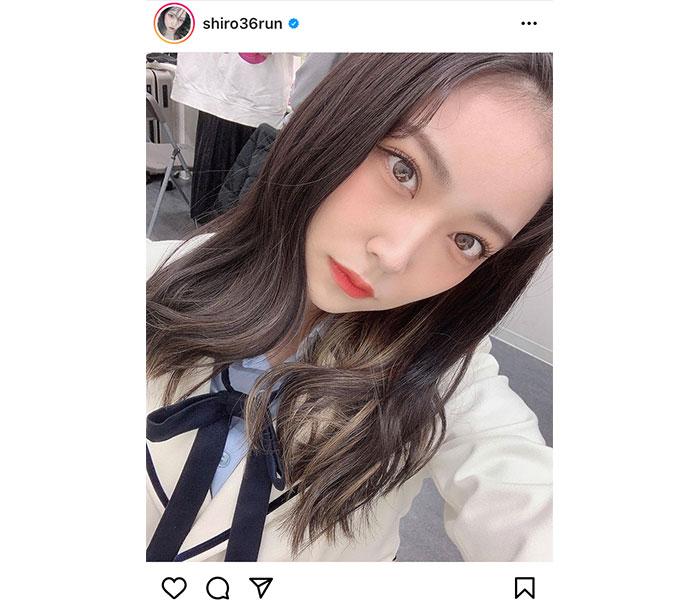 NMB48 白間美瑠、まさに「顔面国宝」なおデコ出しショットを披露!
