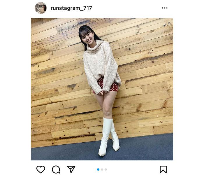 豊田ルナ、ロングブーツで魅せる美脚に「可愛い!」と反響ぞくぞく