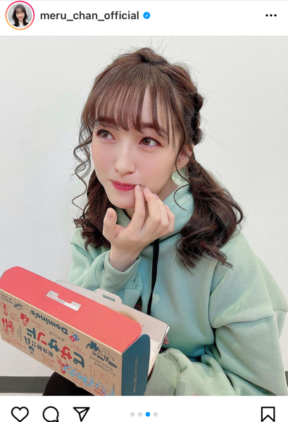 HKT48 田島芽瑠、多忙な毎日でも笑顔は忘れないアイドルショット!「おいしくたべる、君が好き」