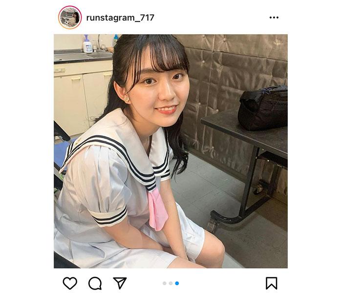 豊田ルナ、「シブサンプロジェクト」新ビジュアルの制服オフショット公開!「かわいすぎてかわいい」